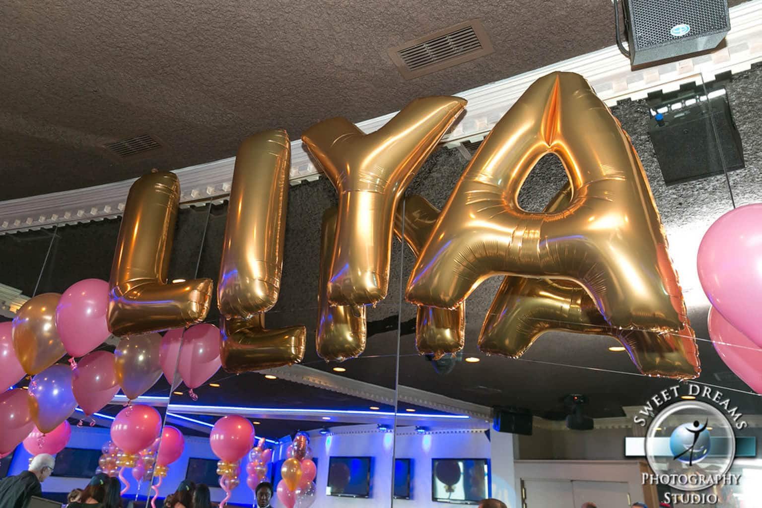 Gold Name In Balloons