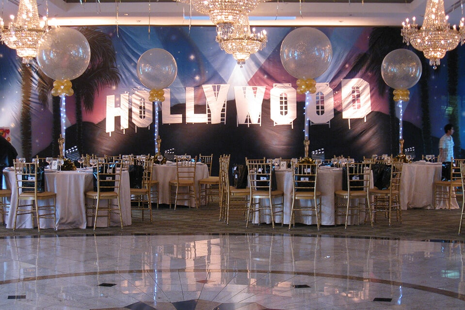 SF Balloon Artistry Stunning Hollywood Sign Decoration