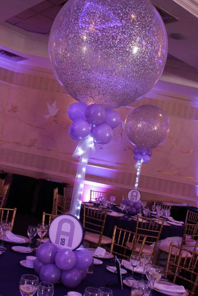 Balloon centerpieces artistry
