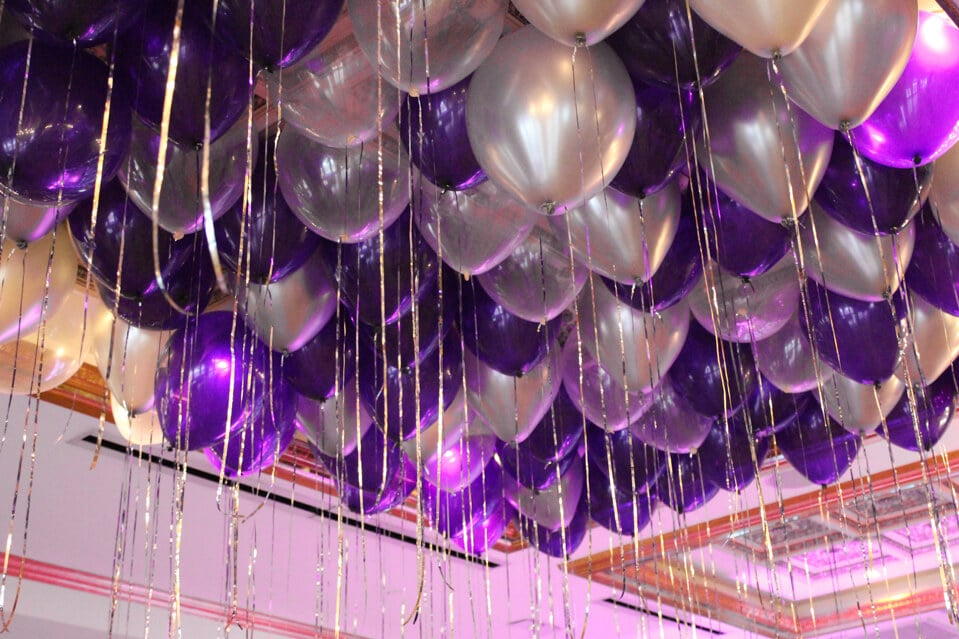Images tagged purple balloon balloon artistry purple silver balloons over dance floor junglespirit Images