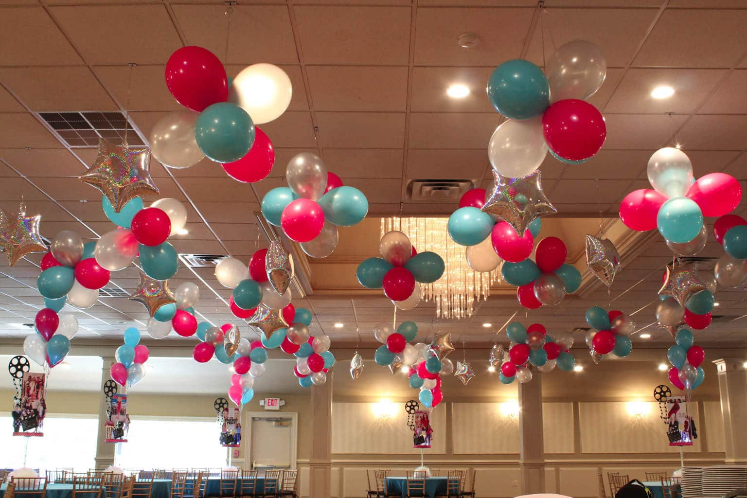 Ceiling d cor balloon artistry for Balloon ceiling decoration