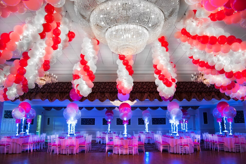 Images tagged pink balloon balloon artistry for Balloon decoration for ceiling