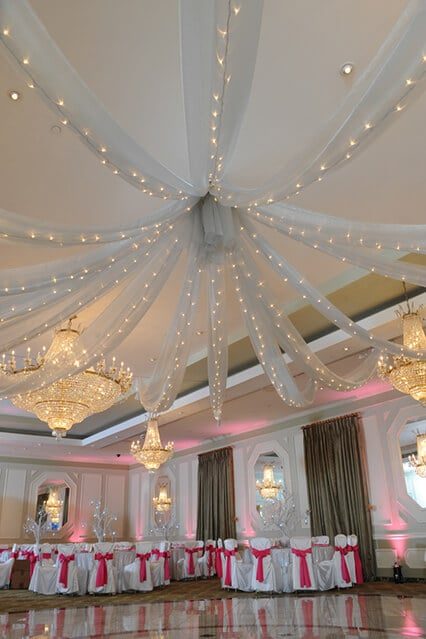 Ceiling draping balloon artistry for Ceiling decoration ideas