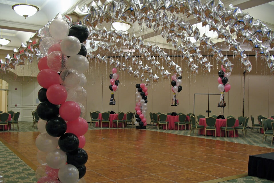 Images tagged balloon canopy balloon artistry for Balloon dance floor decoration