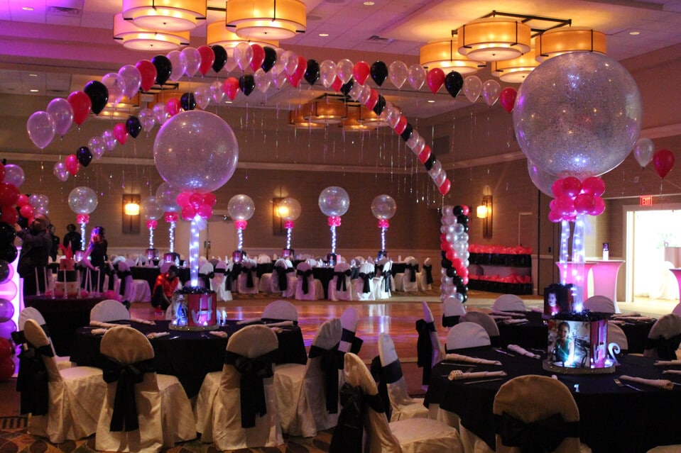 Images tagged balloon gazebo balloon artistry for Balloon dance floor decoration