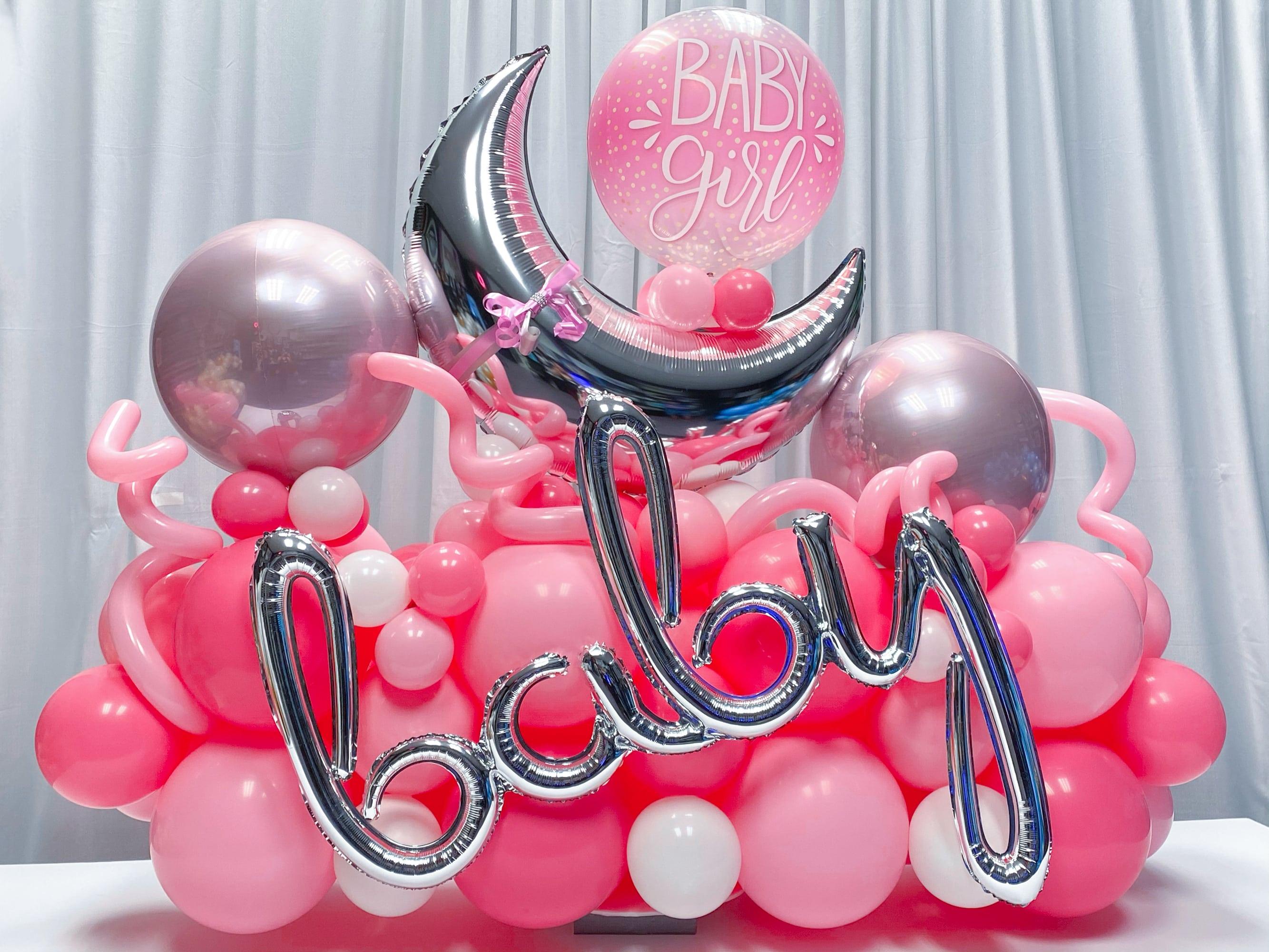 New Baby Girl Balloons, Baby Shower Balloon Bouquet,Baby Girl balloons Balloon Bouquet
