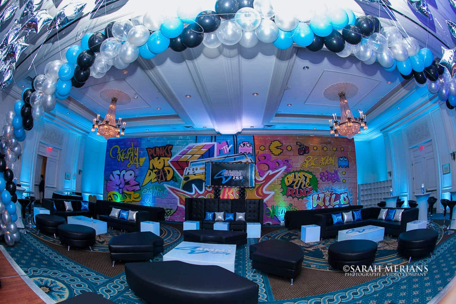 images tagged graffiti themed bar mitzvah lounge with led furniture custom logo decals pillows graffiti wall mural logo backdrop