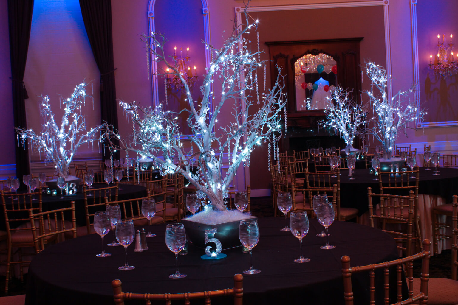 LED Winter Trees with Crystals u0026 Icicles
