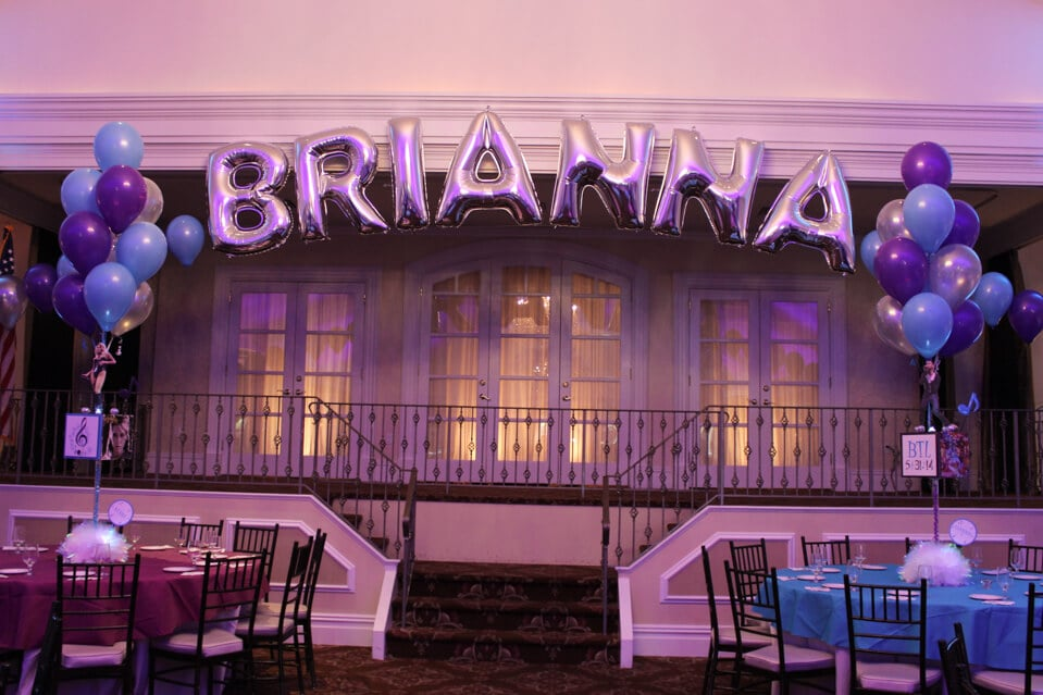 Mylar Names In Balloons Party Event Decor Balloon Artistry