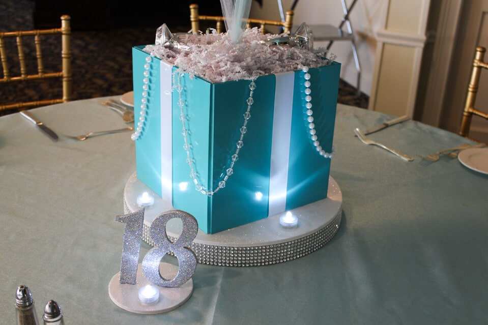 Photo cube centerpieces balloon artistry