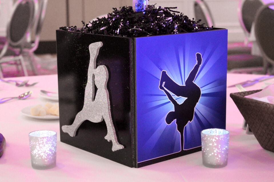 Images tagged dance silhouette balloon artistry for 80 s table decoration ideas