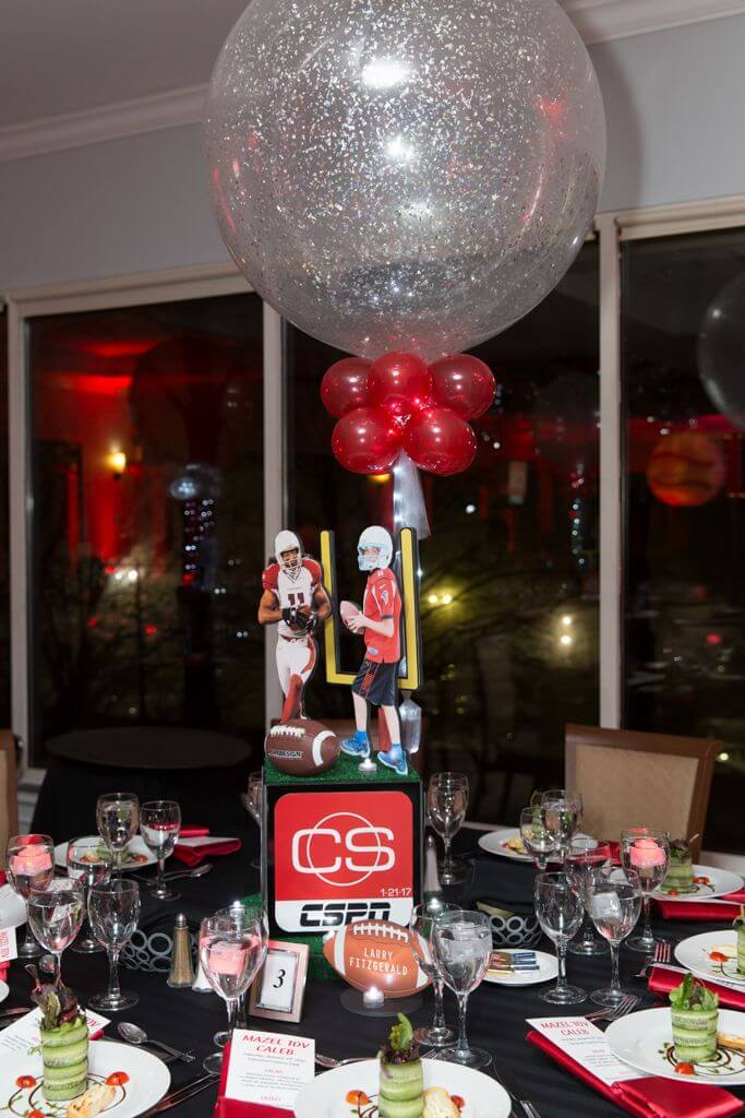 Sports Themed Centerpieces Balloon Artistry