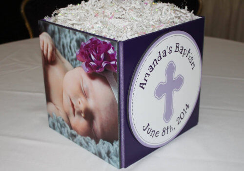 Photo Cube Centerpieces